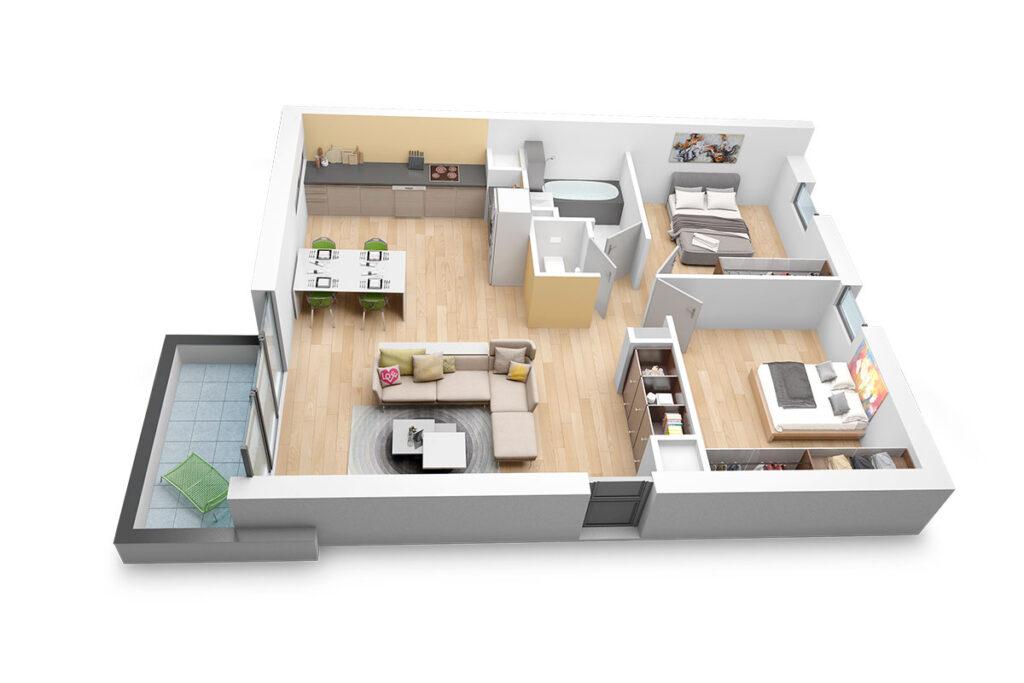 Ремонт трехкомнатной квартиры в Ялте