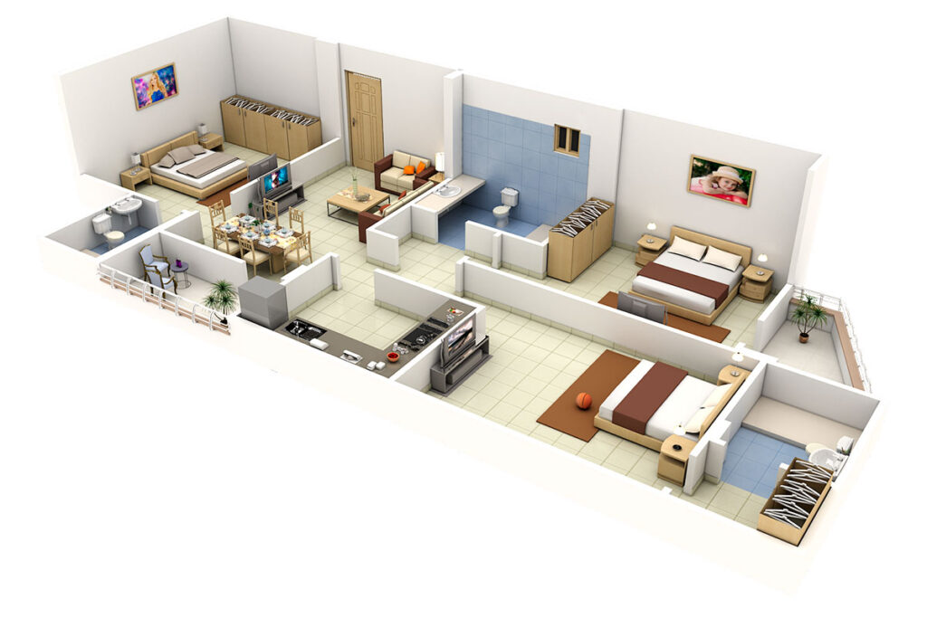 Ремонт четырехкомнатной квартиры в Ялте